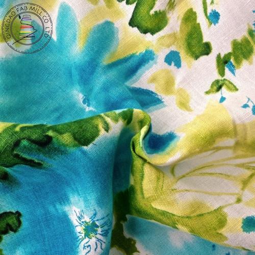 Linen Printed Shirt Fabric (QF13-0262)