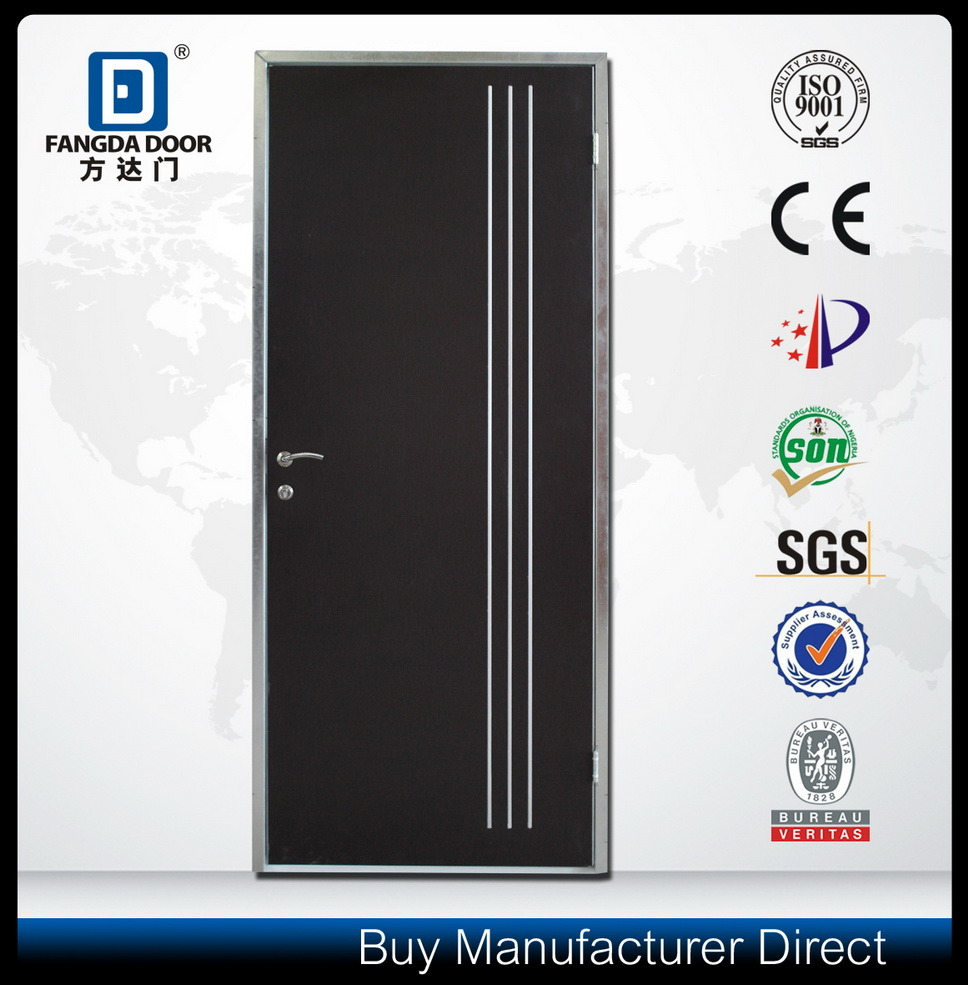 Aluminium Strips Inserted Steel Interior Door