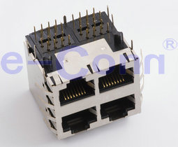 Multi-Port Magnetic Modular Jacks, Rj 45,
