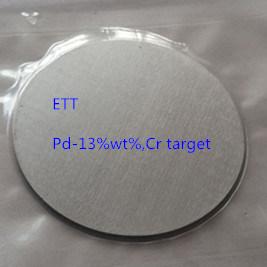 Palladium 13wt% (Pd-13%) Chromium Target (Cr) Purity 99.9%