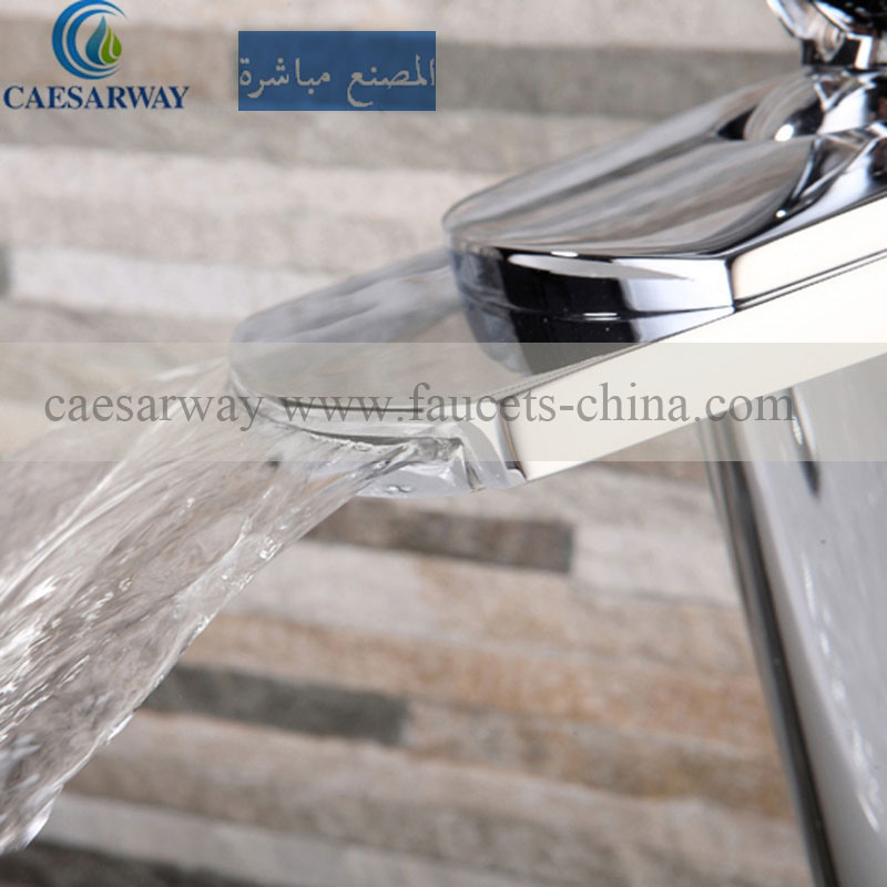 Cascada Grifo Del Lavabo High Basin Waterfall Mixer&Faucet Nickel Brushed
