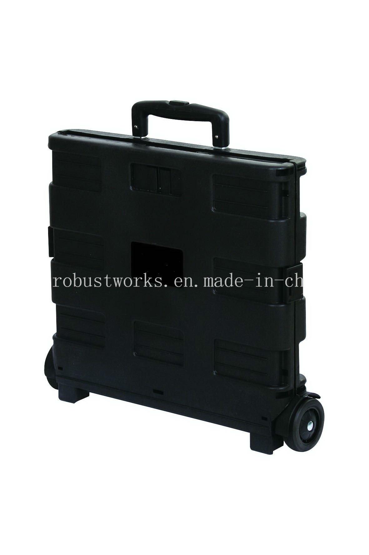 Plastic Folding Shopping Cart (FC403K-2)
