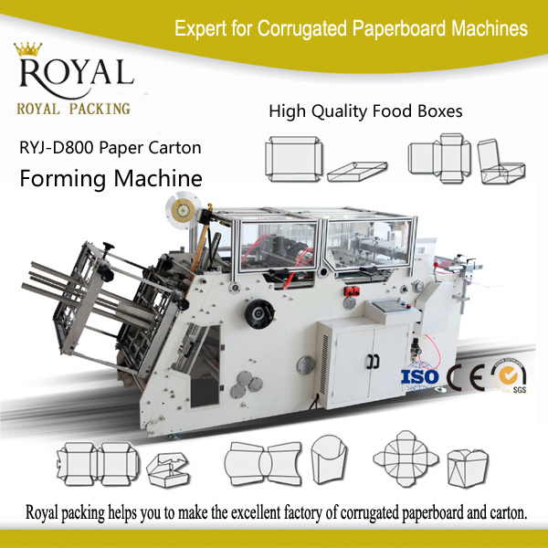 Ryj-D800 High Speed Ryj-D Automatic Kfc / Pizza Box Making Machine