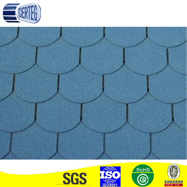 Red/Green/Blue Round Shape Asphalt Shingles Manufacturer