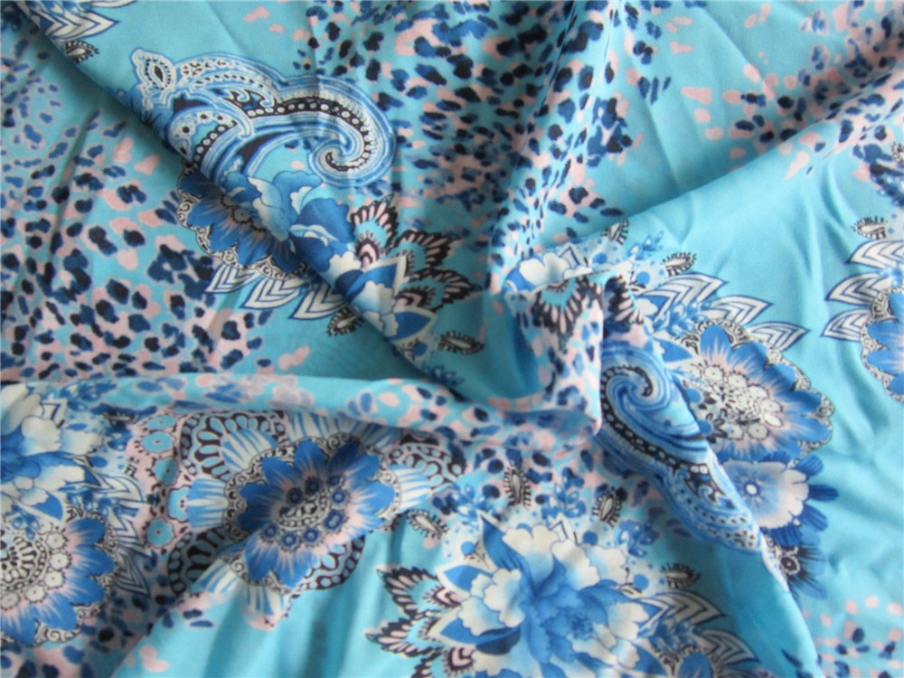 Printed Chiffon Fabric with Spandex