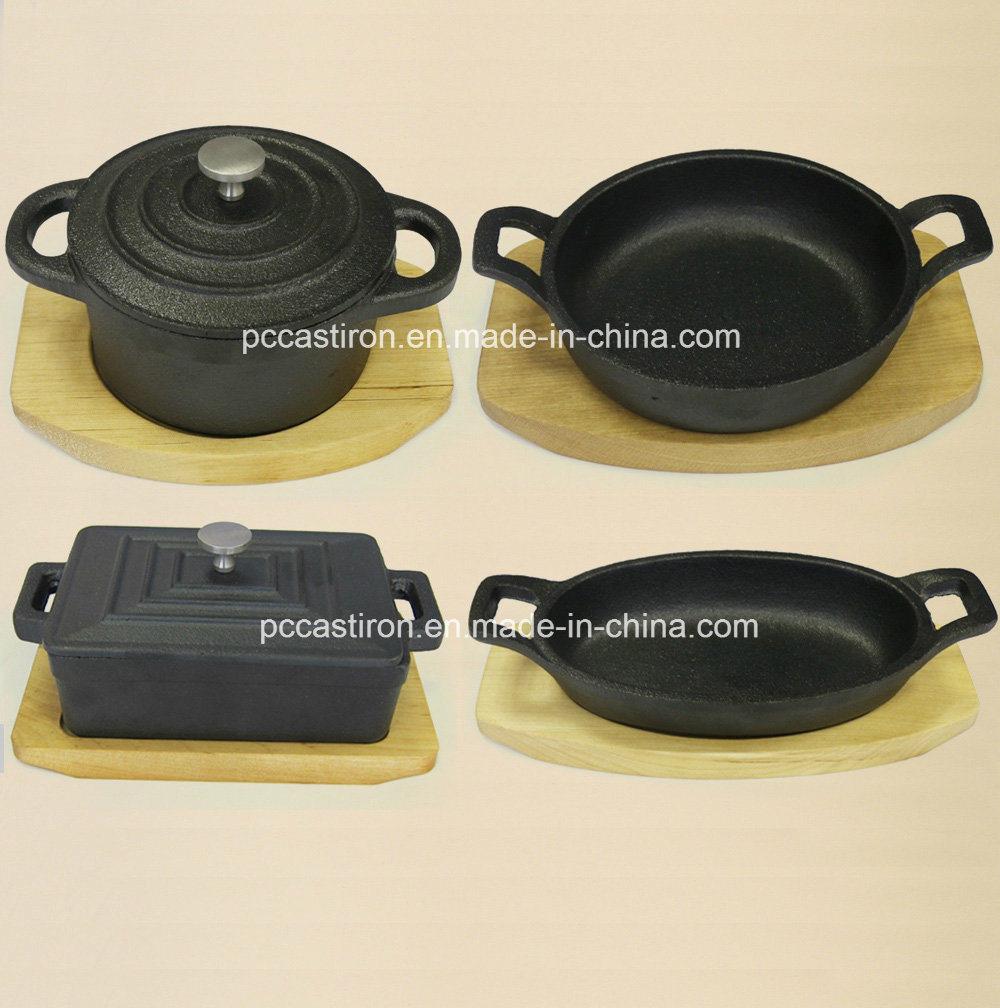 Preseasoned Cast Iron Mini Server Pot China Factory