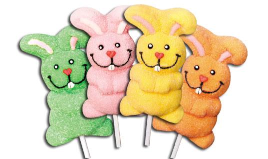 Cartoon Figure Marshmallow Soft Lollipop Candy