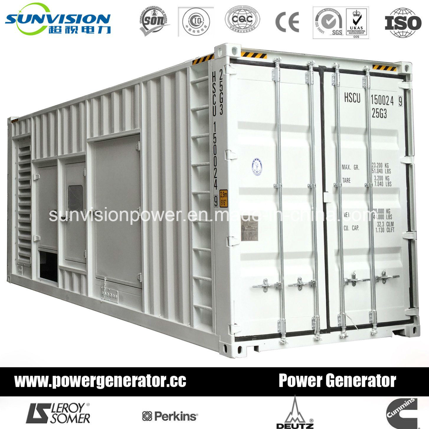 China Prime 1000kVA Mitsubishi Diesel Generator with Container