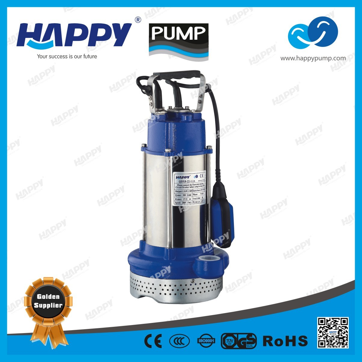 Submersible Water Electric Pump (QDX8-22-1.1A QDX6-32-1.5A)