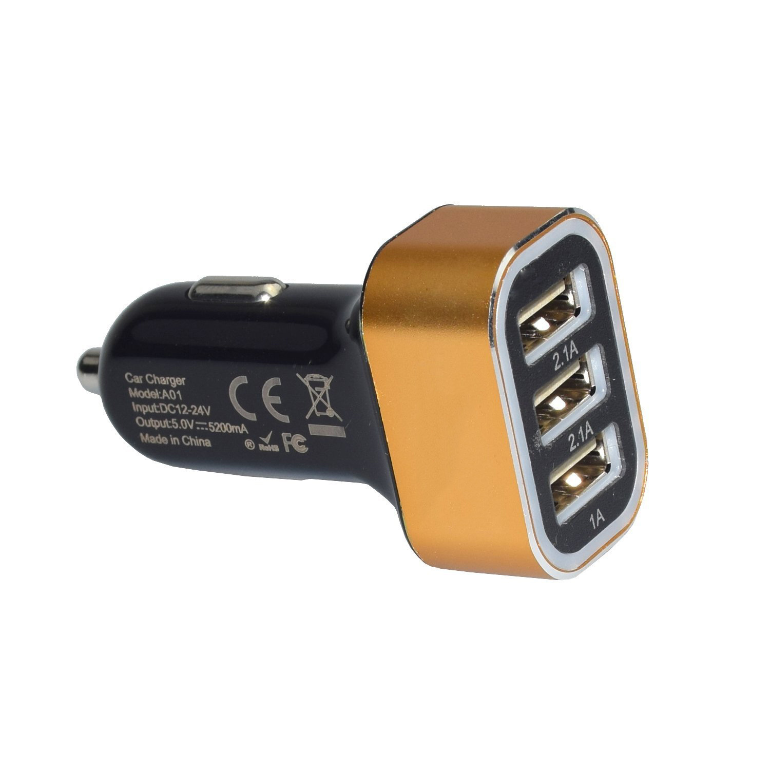 Portable 5V 2.1A USB Mobile Phone Car Charger