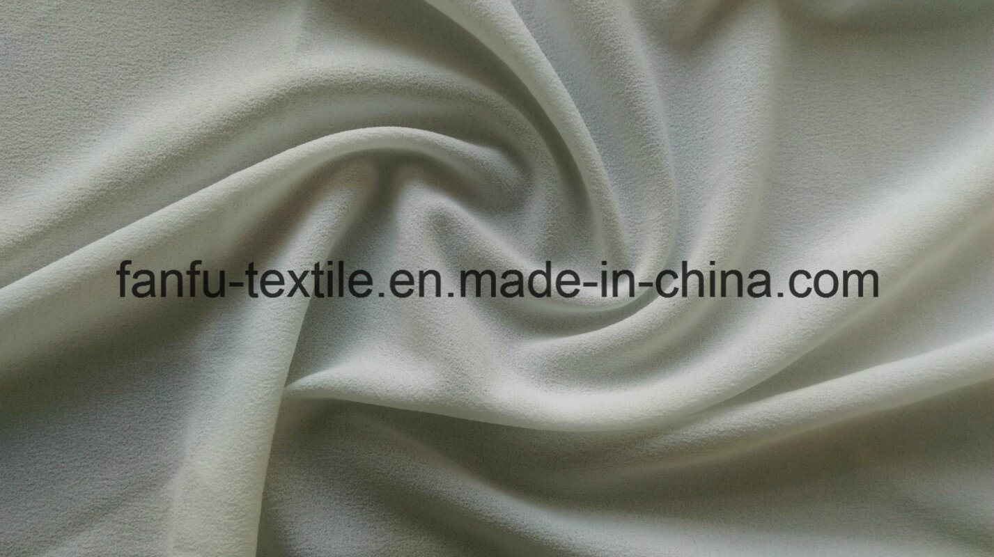 100% Polyester Faille Crepe Fabric 75dx75D 46X38