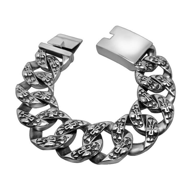 Skull Pattern Men Bracelets 316L Stainless Steel Jewelry