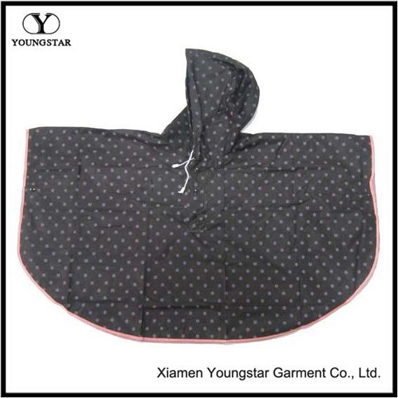 PVC Coated Polyester Fashion Rain Poncho / Raincape for Children