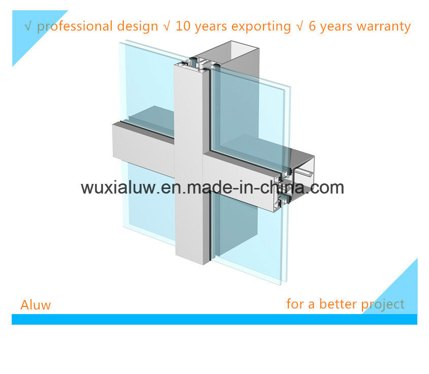 Envrimental Friendly Visible Curtain Wall