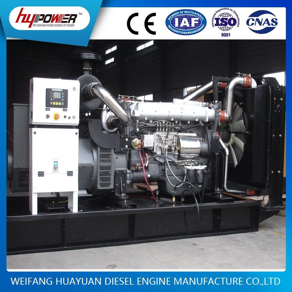 Easy Operation Weifang 200kw/250kVA Diesel/Power/Electric/Silent/Open Standard Diesel Generating Set