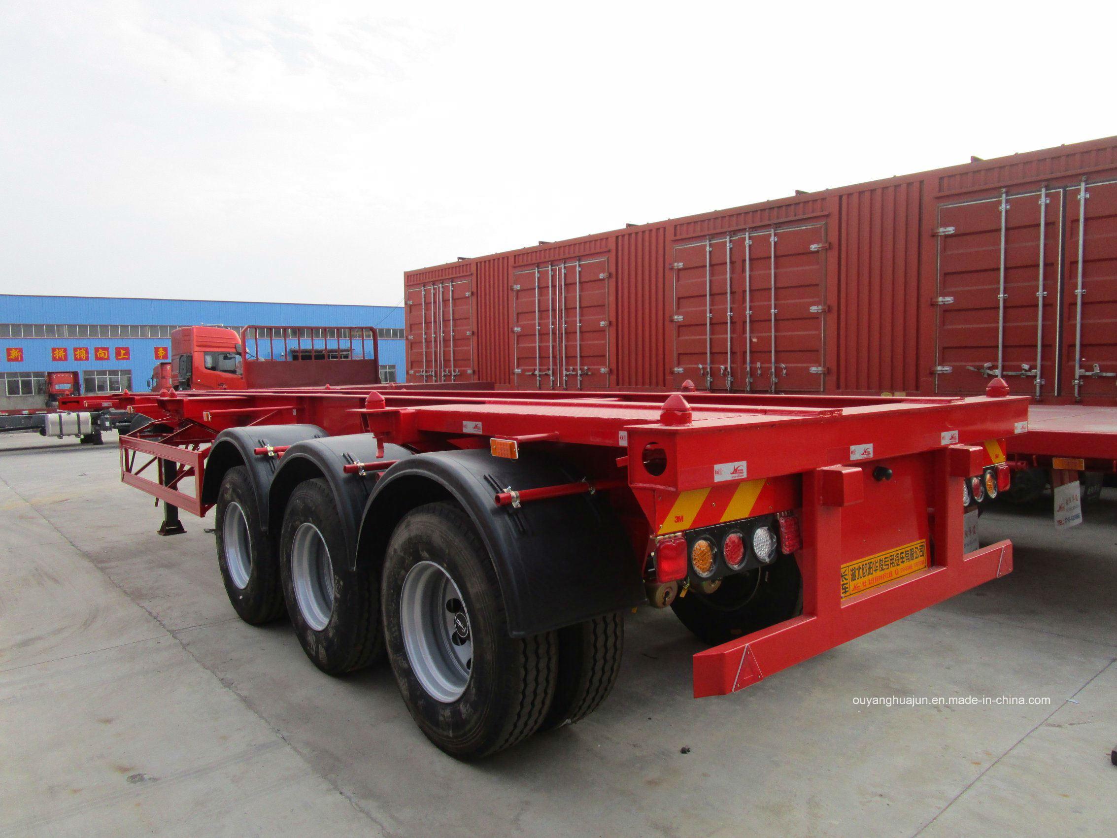 48 Feet 14.95 Meters Skeleton Container Semitrailer