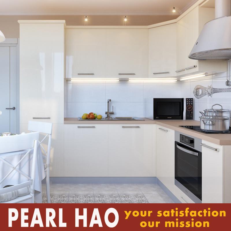 Modern High Gloss White Acrylic Kitchen Cabinets
