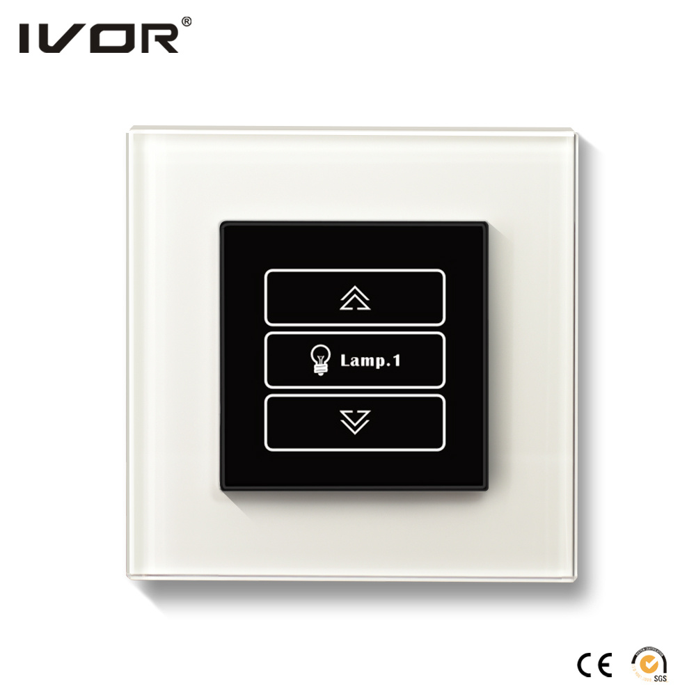 1 Gang Dimmer Switch Glass Outline Frame (HR1000-GL-D1)