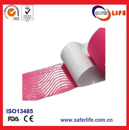 2017 Saferlife Hot Sale Color Elastic Cotton Kinesio Tape 5cm X 5m for Sports Muscle Therapy