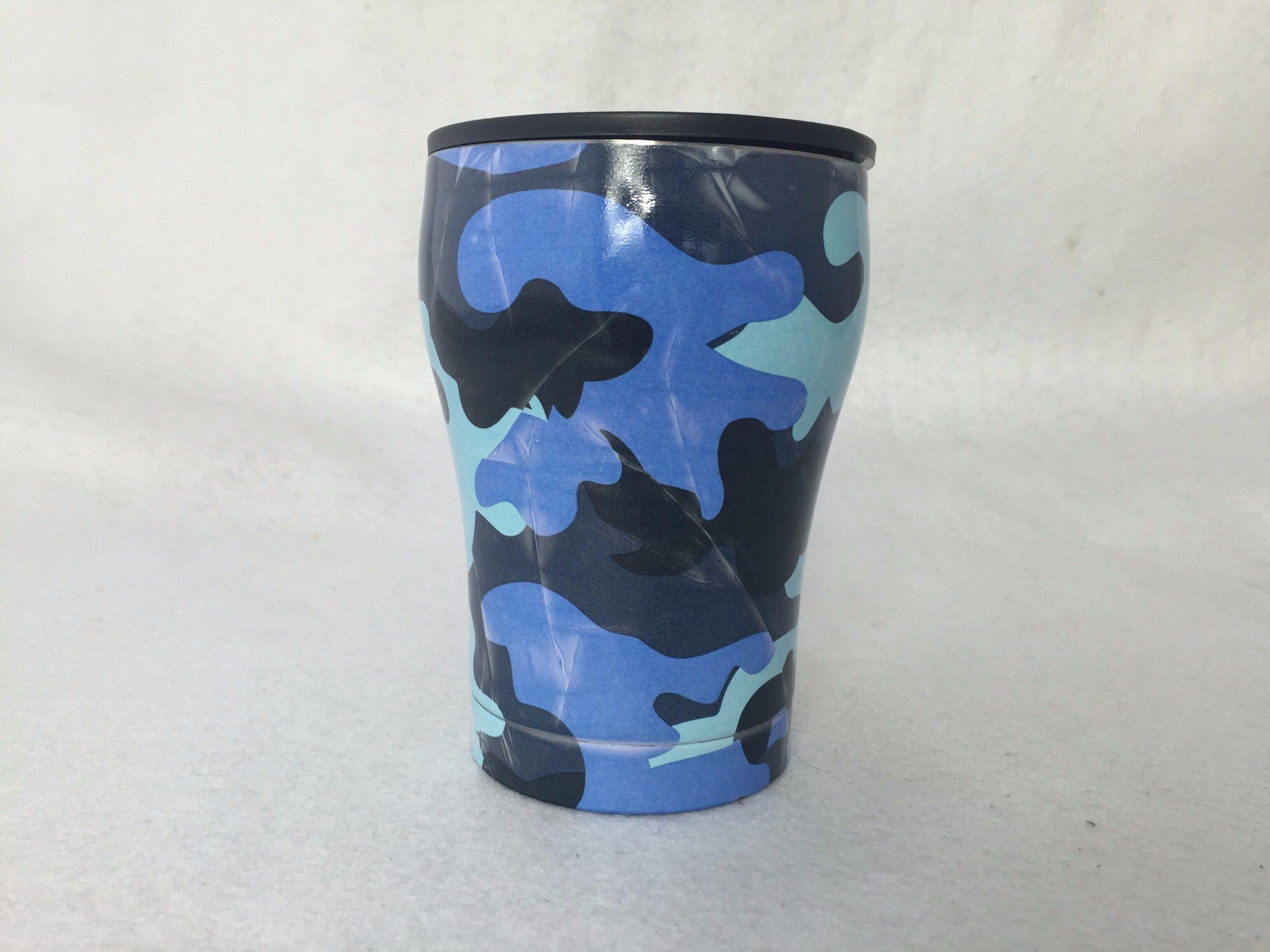 12oz Wood Grain Tumbler Stainless Steel Coffee Mug Beer Cup Travel Cups