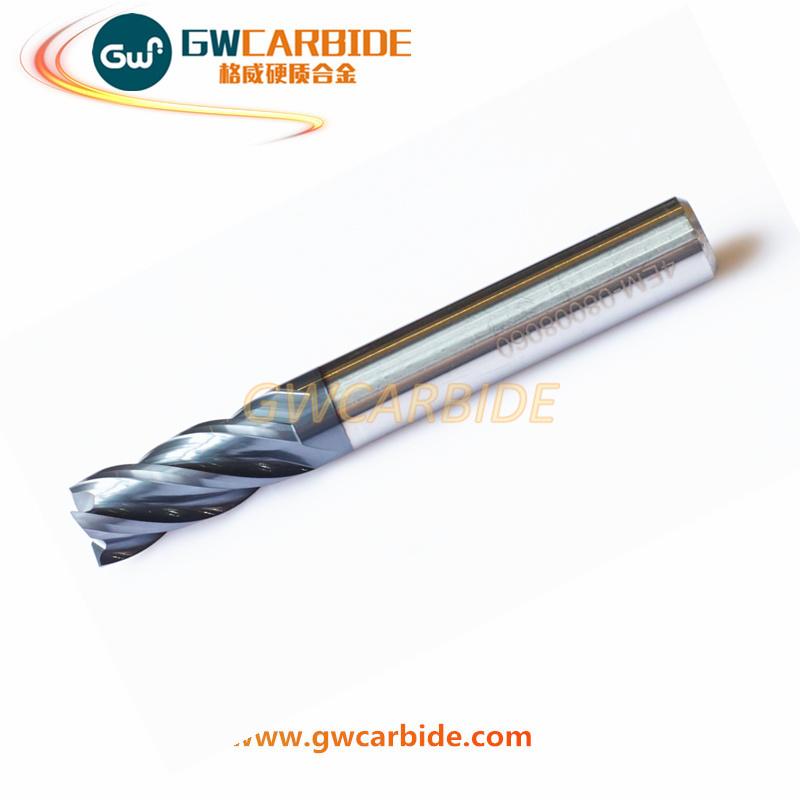Carbide Flat Ball Nose End Mill Cutter 4 Flutes HRC 60