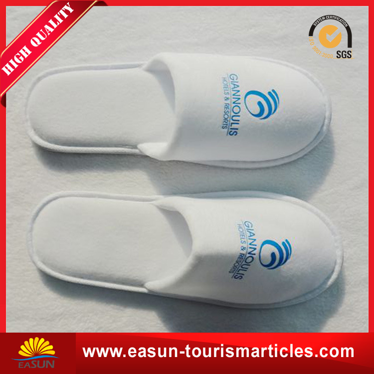 Best Price Custom Embroidery Logo Hotel Amenities Slippers