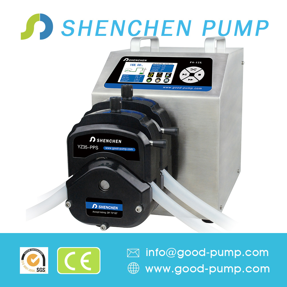 F6-12L Plastic Bottle Filling Automatic Perfume Filling Machines Peristaltic Pump