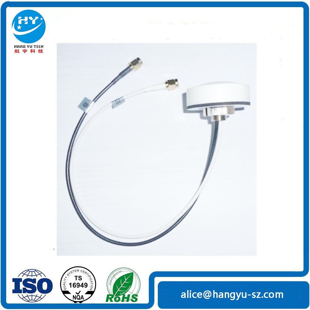 GPS+GSM Dual Band Combination Antenna 30m Copper Wire SMA Plug