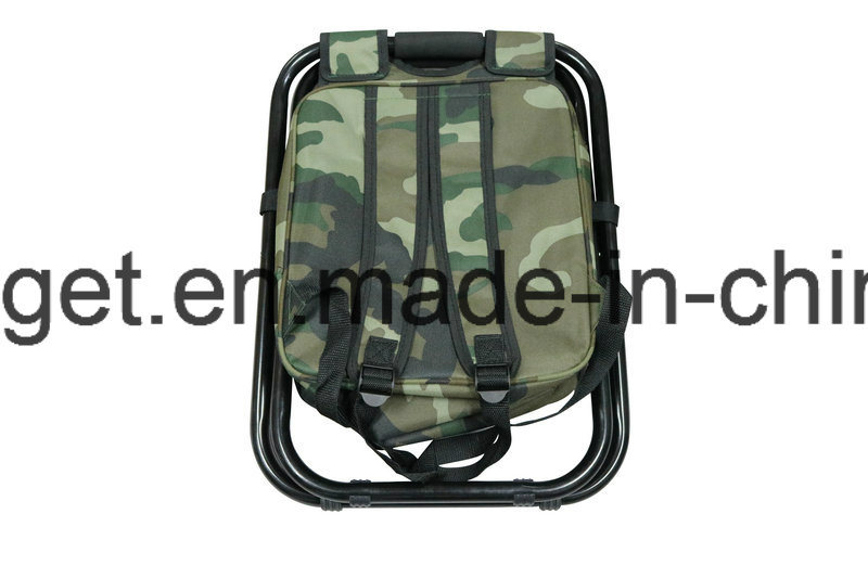 Folding Chair Foldable Camouflage Backpack Cooler Bag 3 in 1 Portable Fishing Stool and Sports Chair