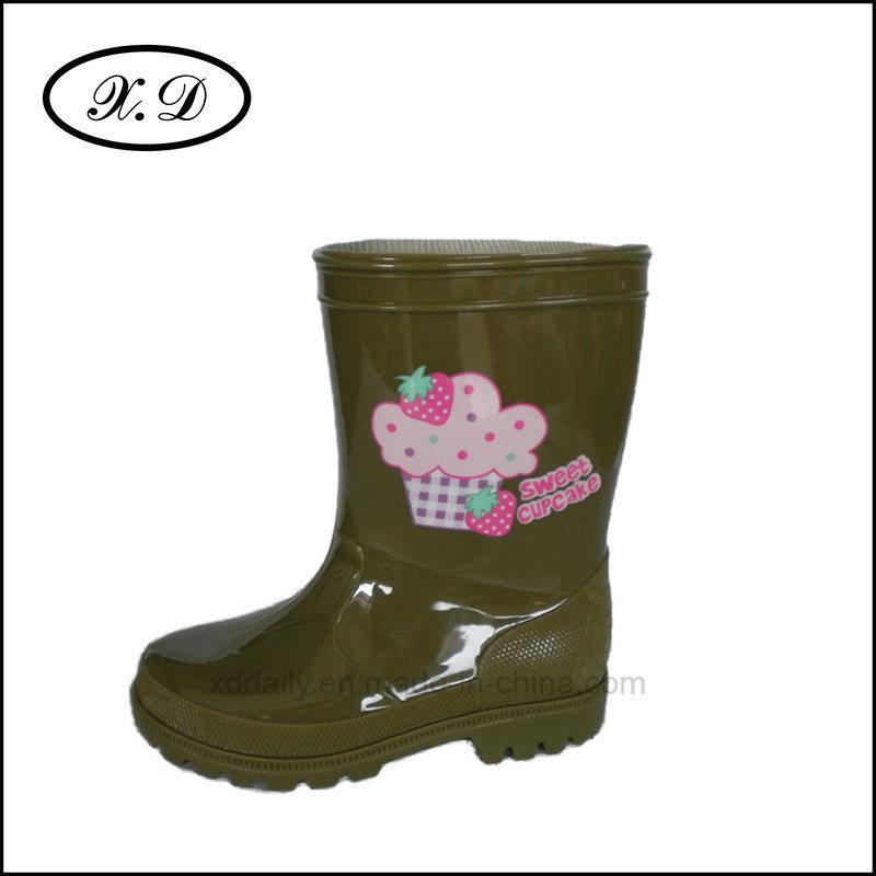 Fashion PVC Rain Shoes for Kids (BX-025)