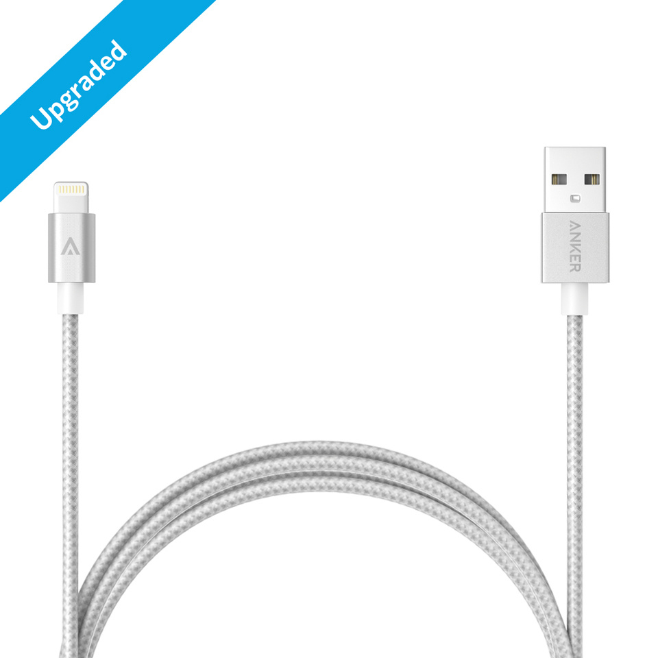 Anker 3FT Nylon Braided Lightning Cable for Apple Mfi Certified]