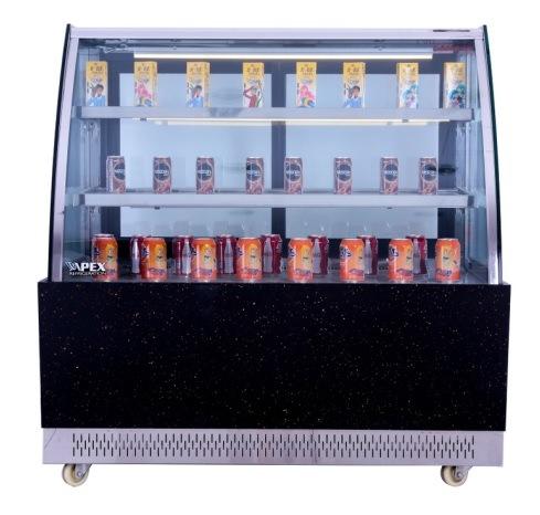 Superior Quality Curved Glass Cake Showcase with Embraco Compressor