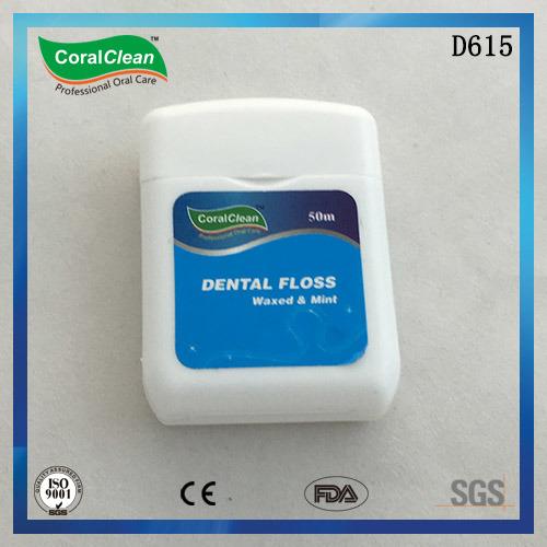 50m Waxed & Mint Square Nylon Dental Floss