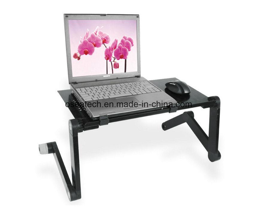 Mini Portable Aluminium Folding Bed Laptop Desk with Fan