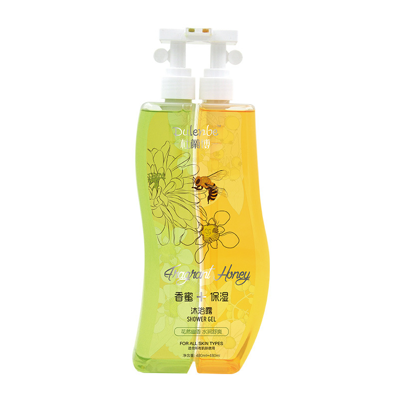 Dulenbe Body Care Honey & Moisturizing Shower Gel 480ml+480ml