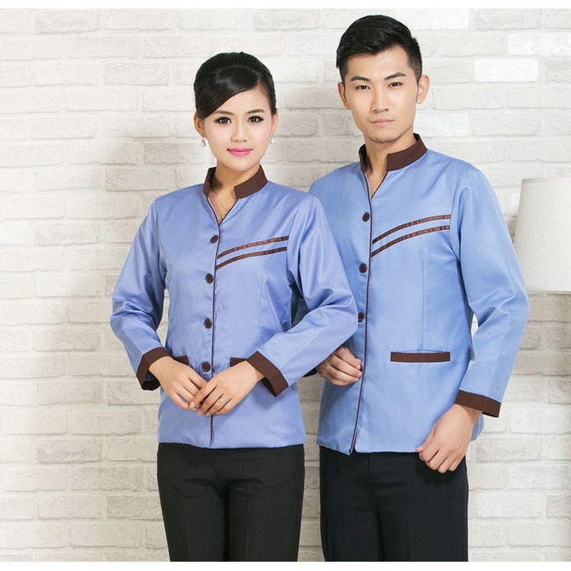 Blend of Cotton and Polyester House Keeping Uniform for Hotel