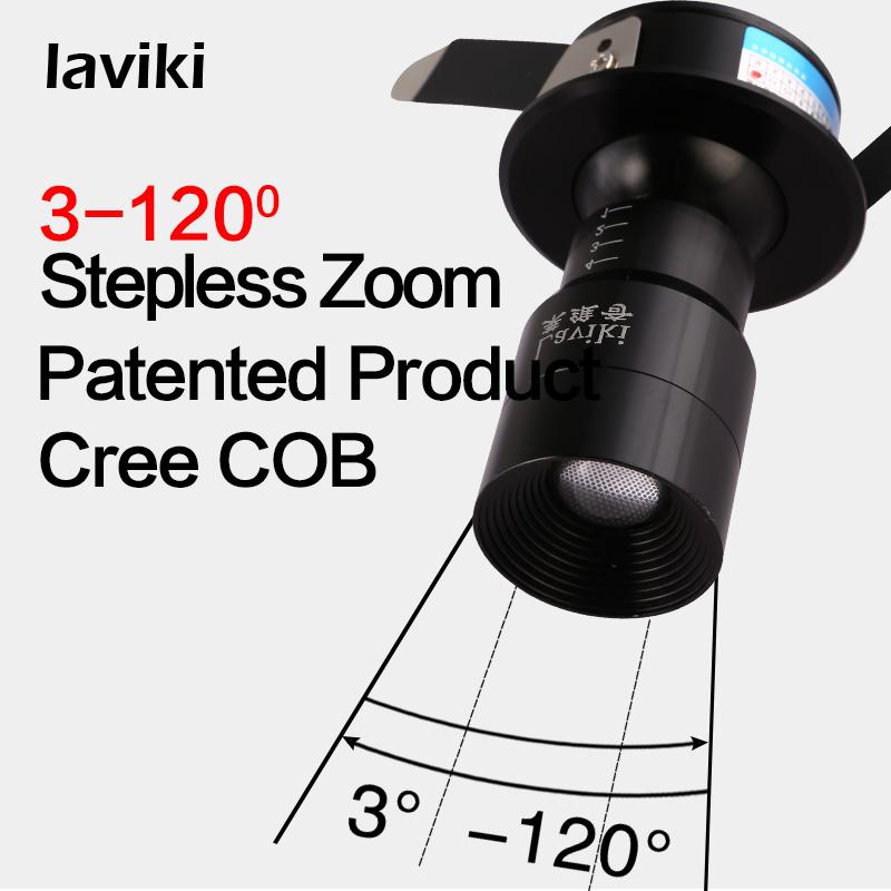 CREE Recessed COB Focus Zoom Beam Angle Adjustable LED Spotlight with 3W 6W