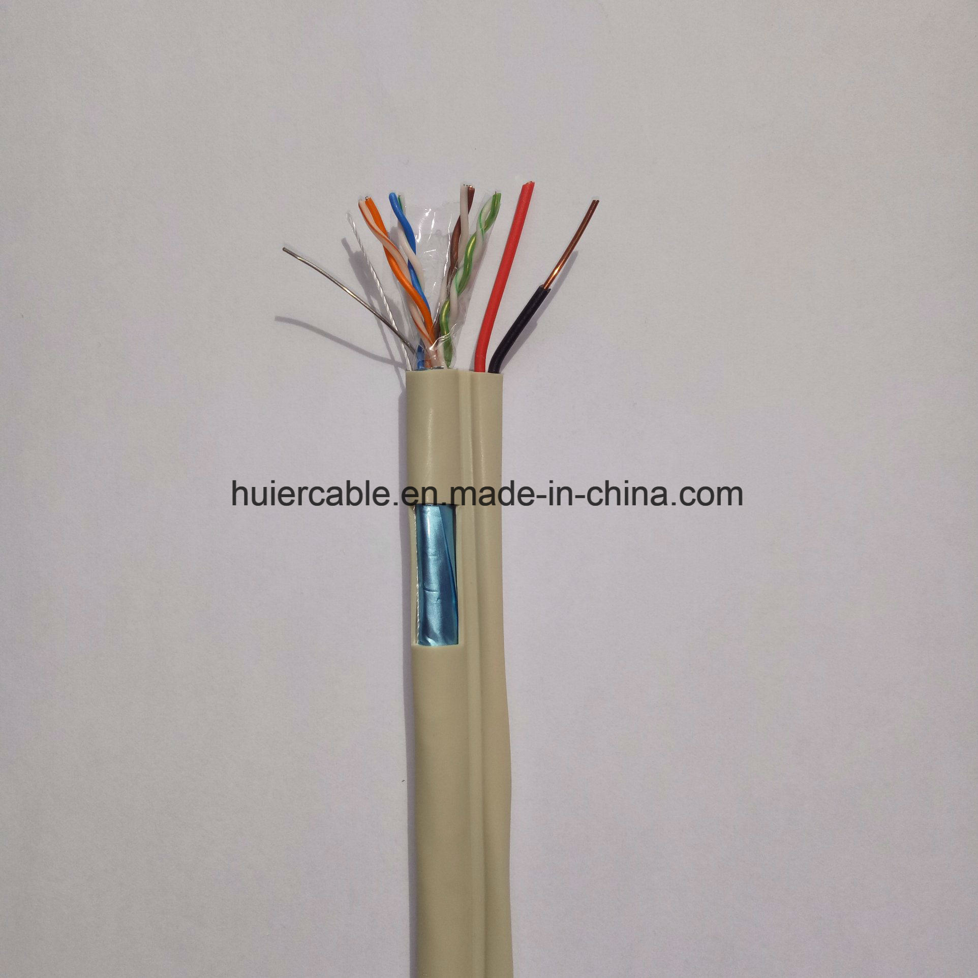 CCTV CAT6 Cable with Power Wires (2DC) for Security System