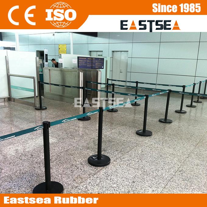 Queue Line Post Barrier Steel Retractable Crowd Control Stanchion