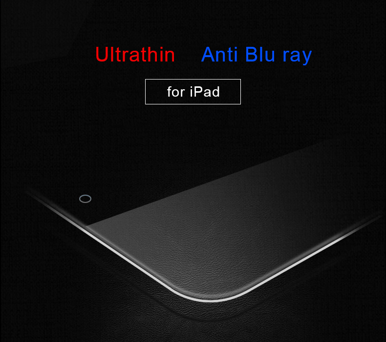 High Quality Ultra Clear 2.5D Curved Edge Protective Tempered Glass Screen Protector for iPad Air 2