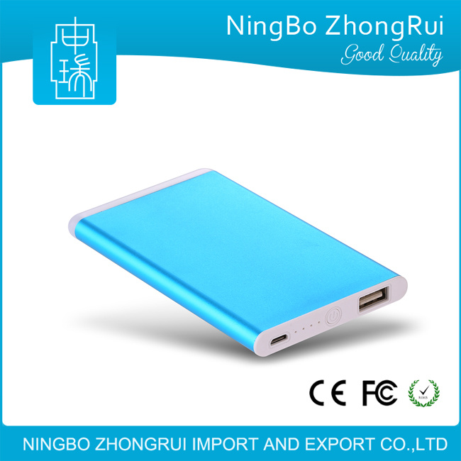Unique Design Ultra Slim Credit Card Power Bank 4000 mAh Portable Power Bank Charger