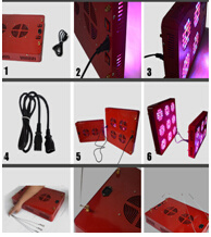 2017 Newest Greenhouse Grow LED Lights 60W / 200W / 500W / 1000W, High Power LED Grow Light of Grow Panel Grow Lamps