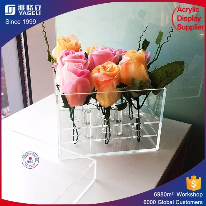 Wholesale Acrylic Waterproof Flower Storage Boxes
