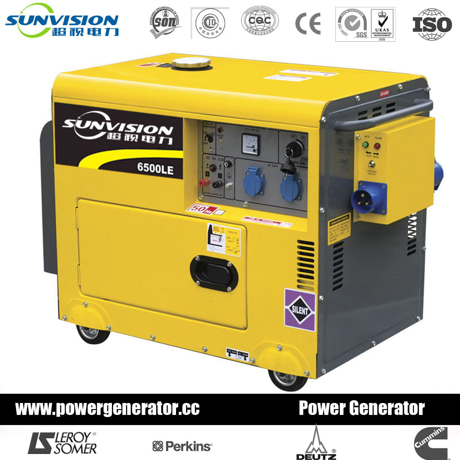 China 6kw 6kVA Air Cooled Diesel Generator Portable Generator
