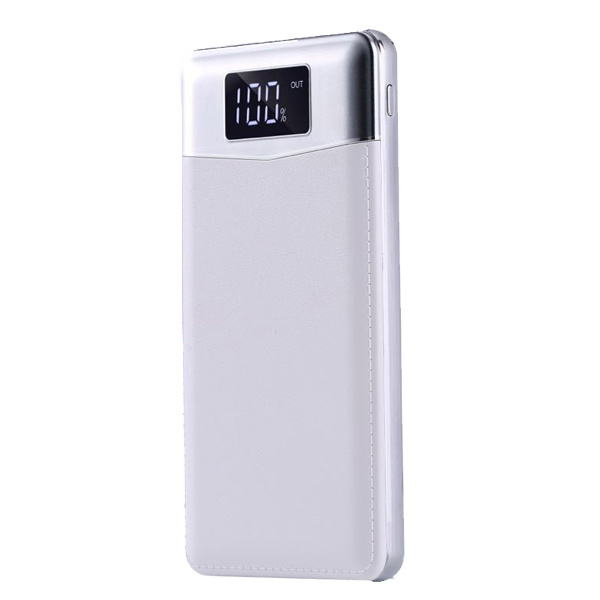 New Design 8000mAh Power Bank with 2 Flashlights Portable Charger LED Screen