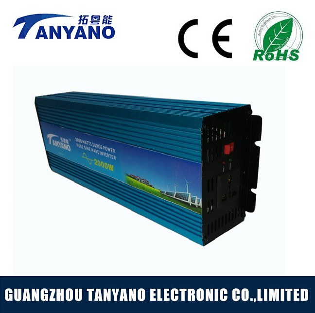 High Efficiency 2000W 12V 220V off Grid Pure Sine Wave Power Inverter