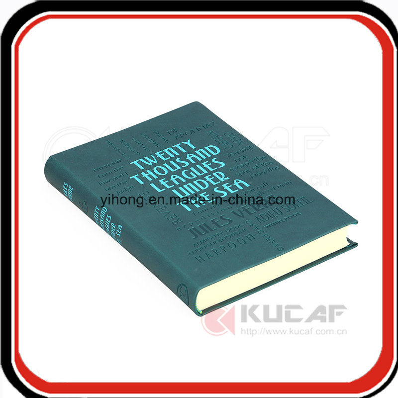 Custom Silver &Debossed Soft Leather Notebook Planner