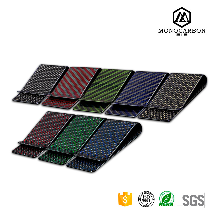 2017 New Unisex Carbon Fiber Material Money Wallet Custom Clip