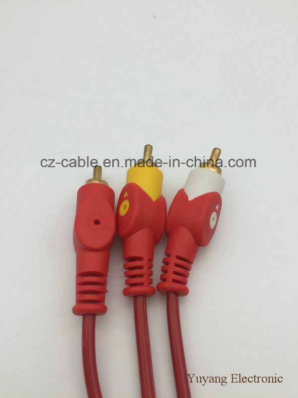 3RCA/3r Plug/Jack to 3RCA/3r Plug/Jack AV/TV/DVD/VCD/Audio/Media Cable (3R-3R)