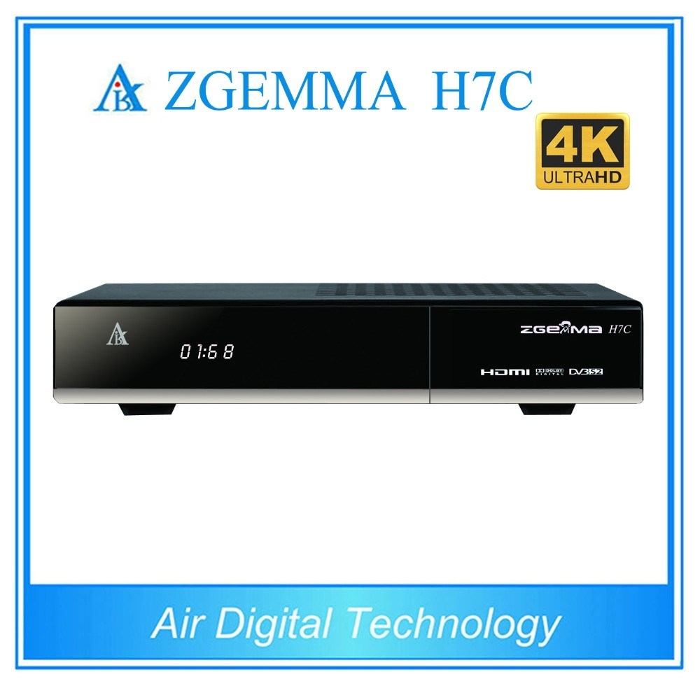 New Zgemma 4k Uhd Satellite Receiver Zgemma H7c with Bcm7251s DVB-S2X + 2*DVB-T2/C Three Tuners Hevc Box